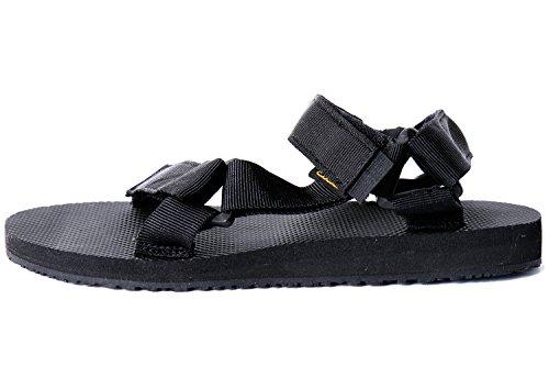 ToeSuit Womens Urban Outdoor Walking Velcro Sandal Black z1sxJeK