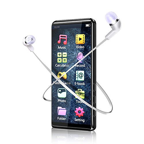 MP3 Player, MMUSC Full Touch Screen HiFi Lossless Sound Player,1080p Full HD Ultra Portable MP3 Player Support Video/Media/Music Player