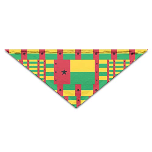 OLOSARO Dog Bandana Guinea-Bissau Flag Triangle Bibs Scarf Accessories for Dogs Cats Pets Animals