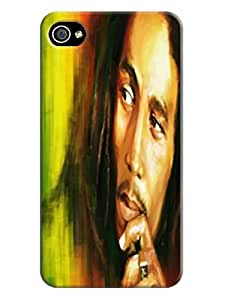 Pretty tpu phone cover/case with texture for iphone4(Bob Marley) by Kathleen Kaparski