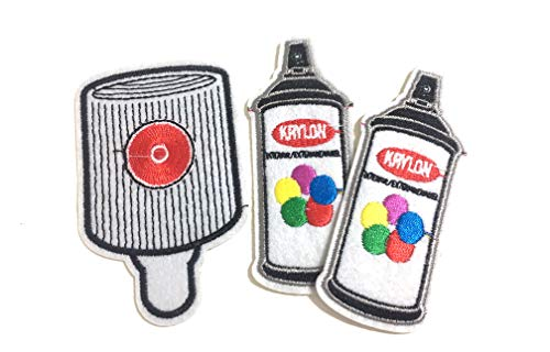Edition Skate - Cool Artist Spray Paint can fatcap Design Style 3pc Art Pack Artist Edition Street wear Cool Rare Skate Street Art Graffiti Patches Iron ons Ewing Patches,Jean Patches, Jacket Patches, hat Patches