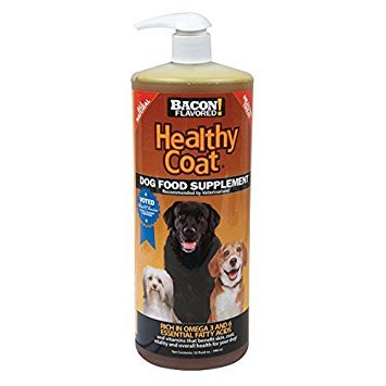 HealthyCoat Dog Food Supplement for Excessive Shedding, Itching, Hot Spots, Allergies, 32 oz., Clear (Best Dog Food For Shedding Problems)