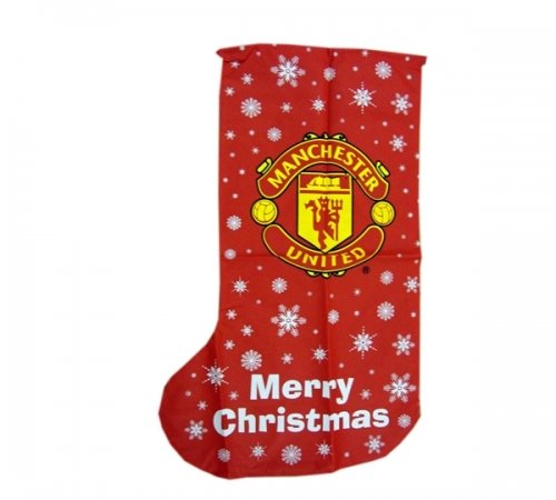 Manchester United Fc Football Xmas Stocking 1m Official Christmas by Linenideas