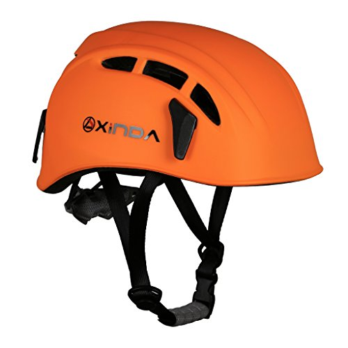 MonkeyJack Safety Helmet Rock Climbing Tree Caving Kayaking Rappel Rescue Hard Hat - Orange ()