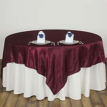 Amazon Efavormart 90 Satin Square Tablecloth Overlay For