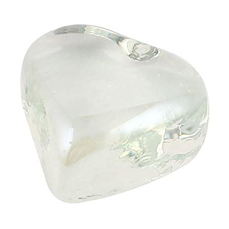 La forma del corazón cristales acuario de Goldfish Bowl de bolas de piedra decoración Claro: Amazon.es: Productos para mascotas
