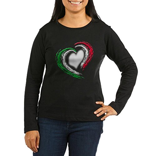 Thermal Tee Heart - CafePress - Italian Heart - Women's Long Sleeve T-Shirt, Classic 100% Cotton Crew Neck Shirt Black