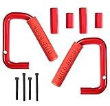 Automotive : Opar Grab Bar Front Grab Handle for 2007-2017 Jeep JK Wrangler & Unlimited - Pair (Red)