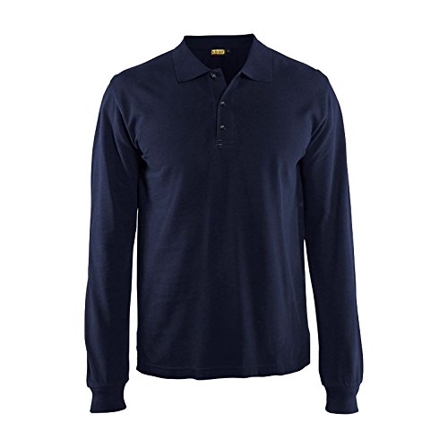 Blaklader 338810508900M Long Sleeves Polo Shirt, Size M, ...