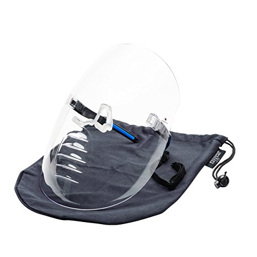 X Shield: Full Face Vented Clear Face Shield Worn Like Glasses - Use Without Hats, Caps and Helmets