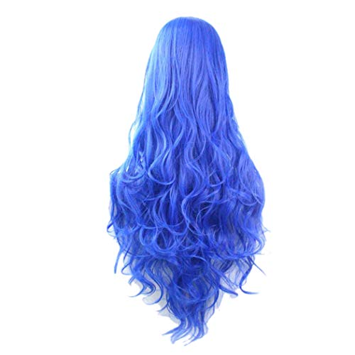 Womens Long Curly Wavy Wig, Halloween Cosplay Party