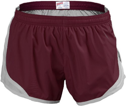 Soffe Girl's Soffe Team Shorty Short , Cardinal/Silver , Medium by Soffe