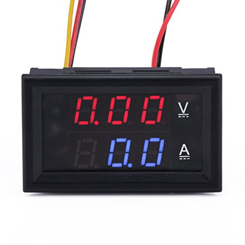 Dc Micro Ammeter - DROK 100016 24V to 12V DC Converter, Adjustable Buck Converter 7-40V to 1.2-35V CC CV Step Down Volt Regulator Constant Current 8A LED Driver Charge Module with Charging Indicator Solar Power Supply