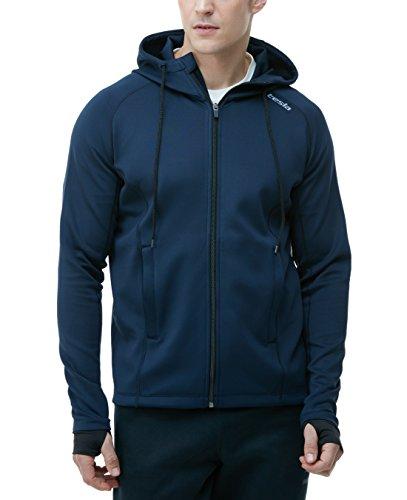 TM-MKJ01-NVY_Medium Tesla Men's Performance Active Training Full-zip Hoodie Jacket MKJ01