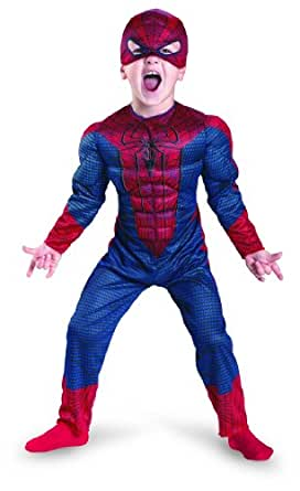 The Amazing Spider-man Movie Muscle Costume, Red/Blue, Large