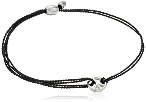 Black Peace Sign Bracelet - Alex and Ani Kindred Cord Peace Black Bracelet