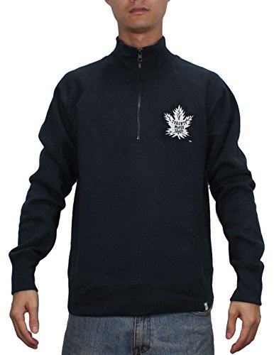 1/4 Zip Thermal Hooded Pullover - SPORTS SHACK USA TOR MAPLE LEAFS Mens 1/4 Zip Pullover Thermal Sweatshirt S Dark Blue