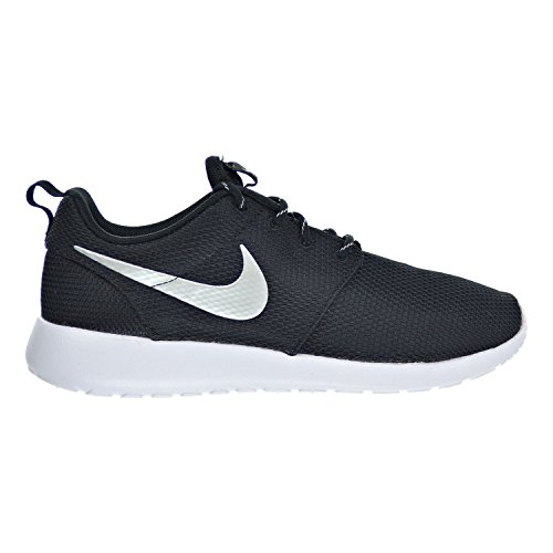 Nike Rosherun Womens Shoes Black/White/Metallic Platinum 511882-094 (11.5 B(M) US)