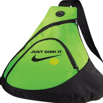 Port Authrority Pickleball paddle racquet sling bag - Just Dink It. - CUSTOMIZABLE with NAME you CHOOSE