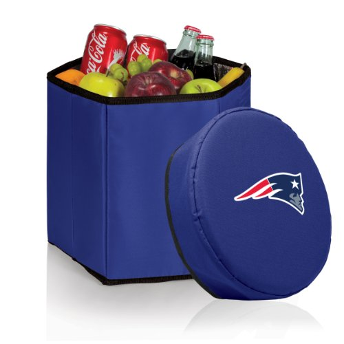 NFL New England Patriots Bongo Insulated Collapsible Cooler, Navy