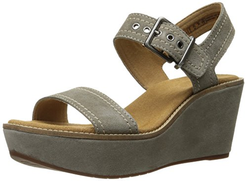 Clarks Womens Aisley Orchid Wedge Sandal