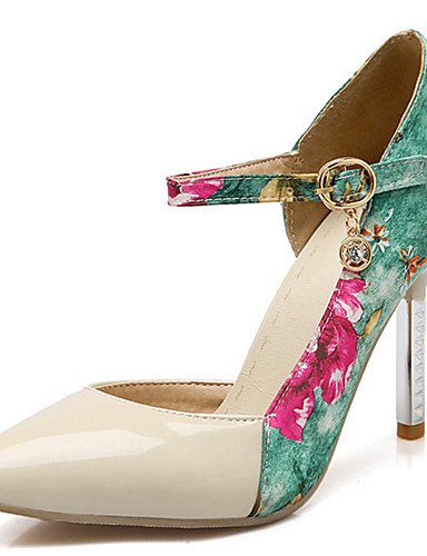 GGX/ Damen-High Heels-Kleid / Lässig / Party & Festivität-PU-Stöckelabsatz-Absätze / Spitzschuh-Rosa / Weiß / Beige beige-us6 / eu36 / uk4 / cn36