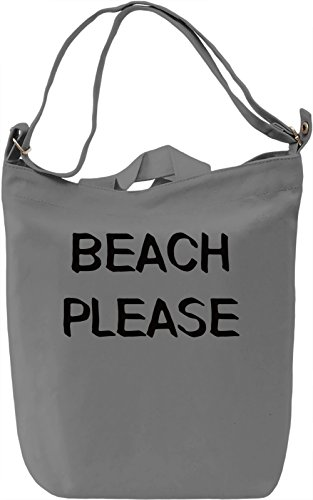 Beach Please Borsa Giornaliera Canvas Canvas Day Bag| 100% Premium Cotton Canvas| DTG Printing|