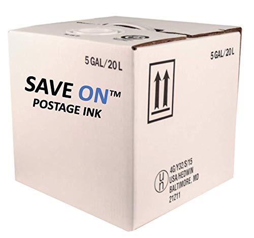 Save On Postage Ink 605-0 E-Z Seal Sealing Solution - Pitney Bowes EZ Seal - Genuine Compatible Postage Machine Ink - Postage Meter Sealing Solution - Pack of 1 5 Gallon Cube ()