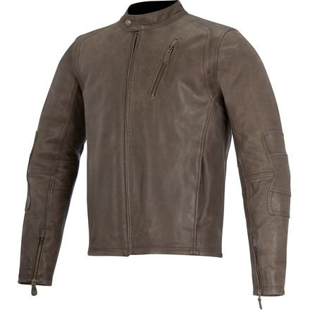 ather Motorcycle Jacket - Brown - Large (Alpinestars Motorcycle Leathers)