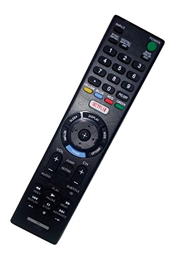Replaced Remote Control Compatible for Sony KDL-40R510C KDL-40R370C KDL40W655D KDL-48R530C KDL32R505C Smart LED HD TV with NETFLIX Button