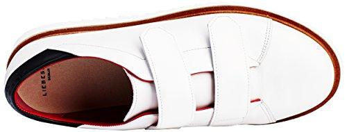 Liebeskind Berlin Ls0115 Calf, Sneaker Basse Donna Bianco (Weiß (Porcelain White 0735))