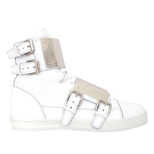 Rodolphe Menudier Witte Lederen Hoge Sneaker Maat 46