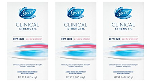 Secret Clinical Strength Deodorant and Antiperspirant for...