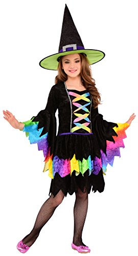 Witch Rainbow Costumes (Rubies Costume Child's Rainbow Witch Costume, Large, Multicolor)
