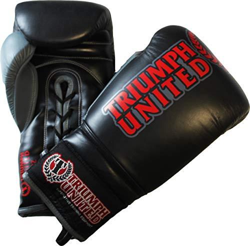 Triumph United Lace Up Pro Boxing Glove, Blak, 14 oz
