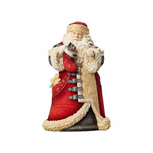 Santa Puppy (Enesco Heart of Christmas Santa with Puppy in Stocking Figurine 4057646)