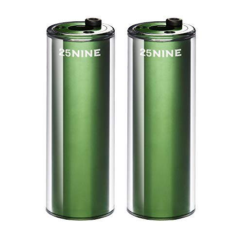 (25NINE BMX Bike Pegs - Aluminum Core with PC Outer Sleeve - Green )