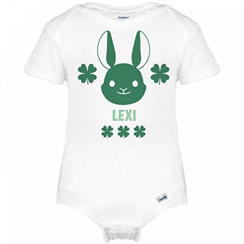 St. Patrick's Lucky Irish Bunny Lexi: Infant Gerber Onesies (Lexi Bunny)