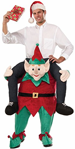 [Funny Myself On An Elf On The Shelf Adult Men Lady Costume Christmas Ride On] (Biker Halloween Costumes For Adults)