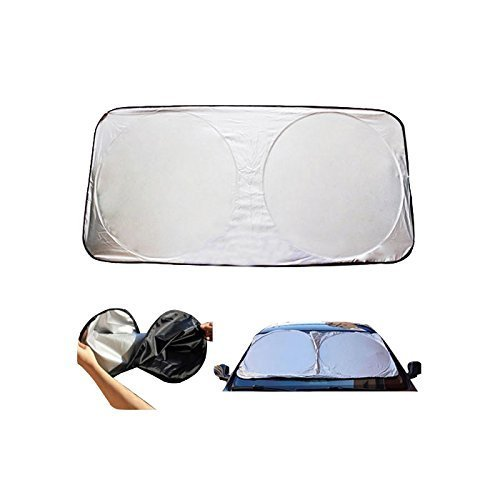 ABP Digital Car Windshield Sun Shade Excellent UV Protection, Universal Fit, Easy to Use Store ? Heat Sun Reflector Protects Your Car Interior by ABP Digital