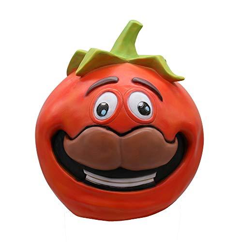 Rucan コスプレ おもしろトマトヘッドマスク メルティングフェイス ラテックス コスチューム ハロウィンゲームマスク おもちゃ