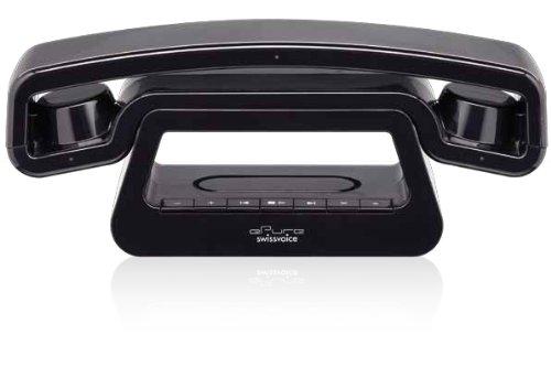 Swissvoice ePure TAM DECT-Schnurlostelefon mit Anrufbeantworter (3,6 cm (1,4 Zoll) Display) schwarz