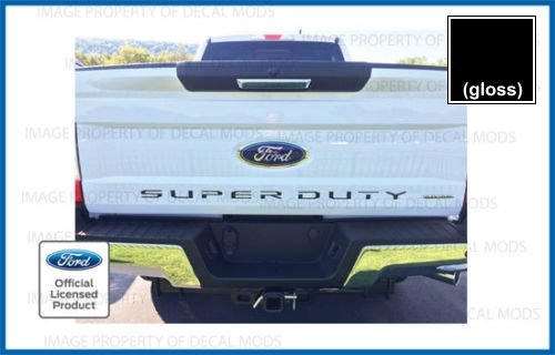 2017-2019 Ford Super Duty Letter Inserts for Tailgate Black (Gloss) - CB F250 F350 F450 Decals Stickers
