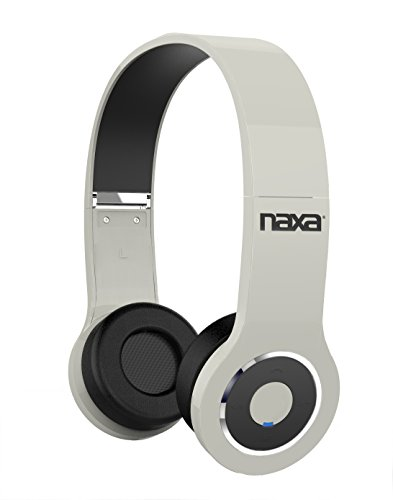 Wh Headphones Portable White (NAXA Electronics NE-932 WH Neurale Wireless Headphones with Bluetooth Technology, White)