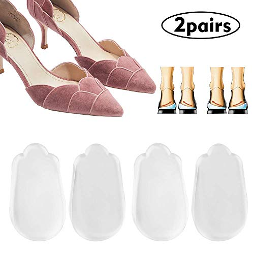 2 Pair Orthopedic Insoles for Correcting O/X Type Leg,Shoe Inserts Medial & Lateral Heel Wedge Lift Silicone Pads