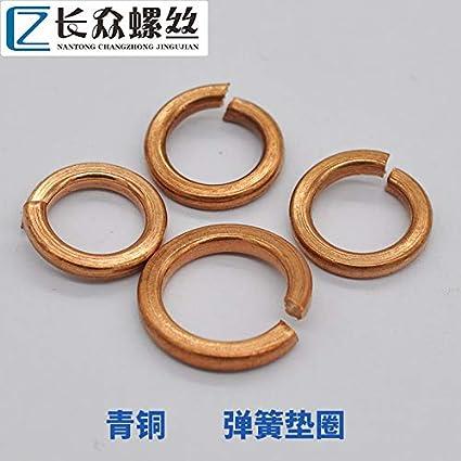 Inner Diameter: M8, Number of Pcs: 10Pcs Ochoos M3 M4 M5 M6 M8 M10 M12 M14 M16 M18 Phosphor Bronze Spring Washers Spring Bronze Copper Brass Split Spring Lock Washer