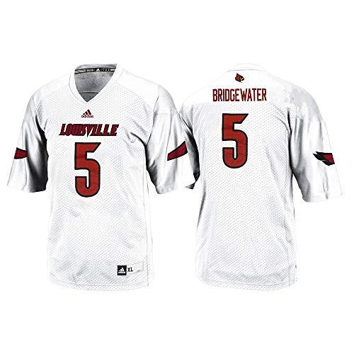 - adidas Teddy Bridgewater Louisville Cardinals NCAA Men's #5 Official Away Football Jersey