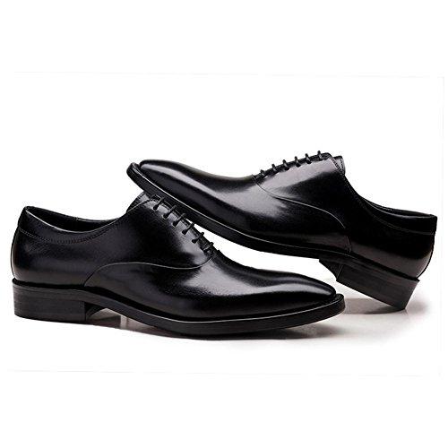Hombres Oxford Cuero Zapatos Encajes Formal Boda Negocio Inteligente para los hombres Puntiagudo Dedo del pie Negro marrón Oficina Trabajo Fiesta Negro