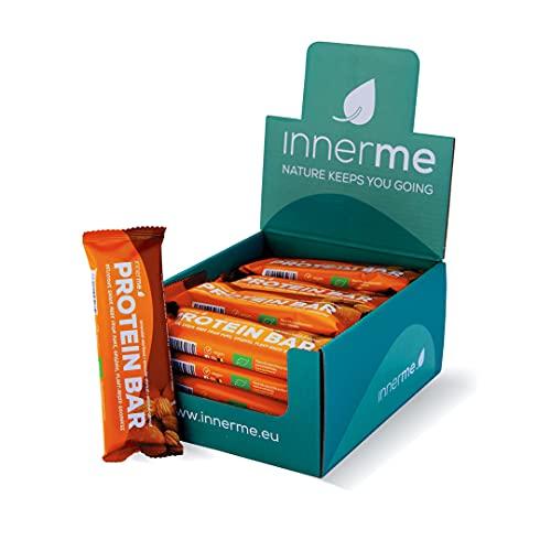 INNERME – Biologische & vegan proteïnerepen – Amandel-abrikoos smaak – 12 g plantaardige eiwitten / bar – Rijk aan…