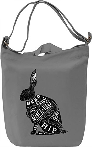 Black rabbit Borsa Giornaliera Canvas Canvas Day Bag| 100% Premium Cotton Canvas| DTG Printing|